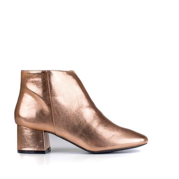 Qupid Shoes | Qupid Metallic Booties